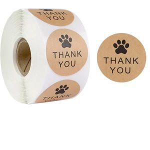 BOGO Free🌻roll of thank you stickers paw design